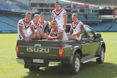 Sydney Roosters Score with Isuzu Ute